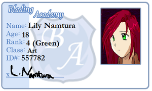Lily's ID for Blading-Academy by tifafenrir09