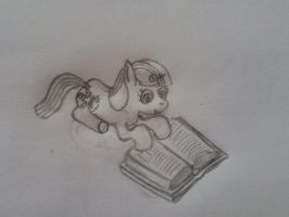 NATG Day 15: Filly Twilight reading by dredaich