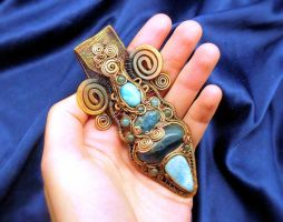 Sea Foam Mysteries Pendant by Catscendence