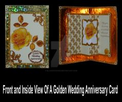 Front and Inside View of A Golden Wedding Card by blackrose1959