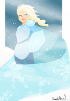 queen of arendelle by Thesleepypencil
