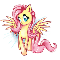 Fluttershy - i'm so happy by Pauuh