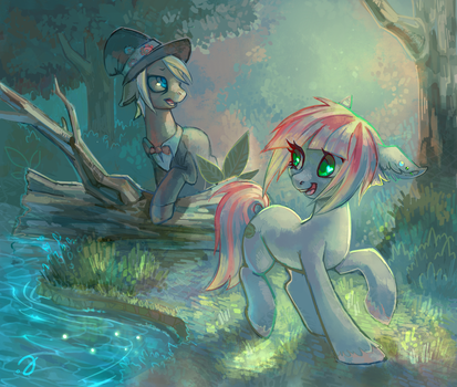 Forest hikers by ErinLiona