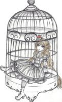 The Caged bird by deepBlueskies