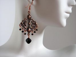 Copper and Black Chandeliers by lauriescustomcreate