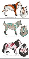 Wolf Adoptable Designs CLOSED by NatsumeWolf