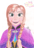 Princess Anna from Frozen by xNiciCupcake