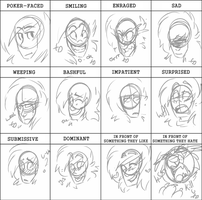 Expression doodles - Zaccc by Sniperisawesome