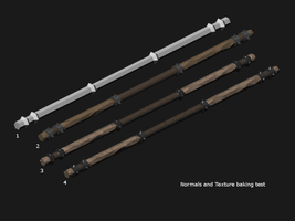 Quarterstaff - Blender Baking by pfunked