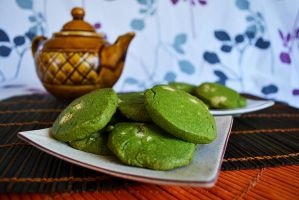 Green Tea and White Chocolate Cookies by 14th-division