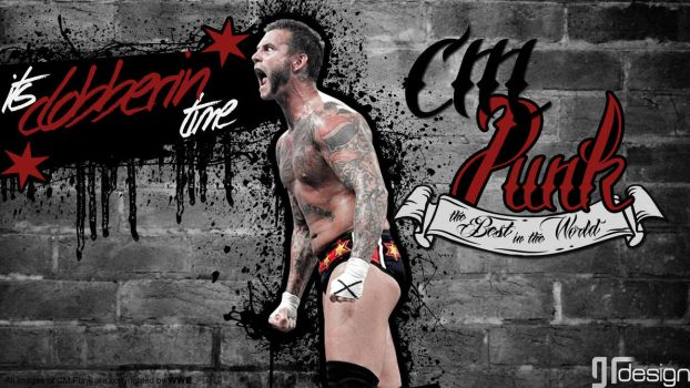 CM Punk Wallpaper Clobberin Time SrGambit by SrGambit