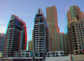 Dubai Marina 3D stereo photo by amirajuli