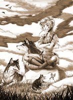 Dances With Wolves... Sorta by Tsano