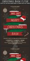 Christmas Bash Party Flyer Template by Hotpindesigns
