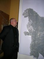 Me and My Godzilla Painting by Kaijubait