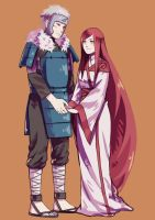 Tobirama Senju and Himeko Uzumaki by DaiKai