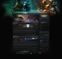 Web design: World of Warcraft: primary page by MorfikDesign
