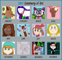 Silver's 2012 Summary of Art by alpha-centaurius