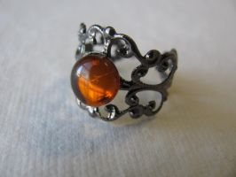 baltic amber adjustable ring by life--in-technicolor