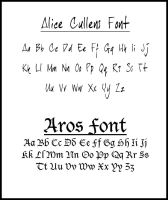 Fonts used in Twilight 3 by EsmeCullen