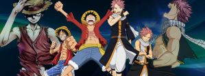 Fairy Tail/One Piece Timeline Cover by evitacarla