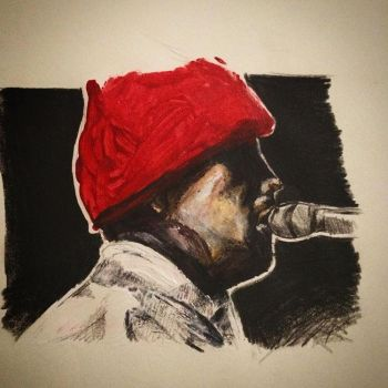 Tyler Joseph Mini Painting by ghostgirlgotscared