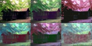 Log Cabin Collage by ChrisR1982Edin