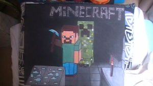 Minecraft painting by Chaoslink1