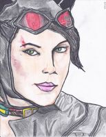 Sharpie Arkham Knight Catwoman by cablex452