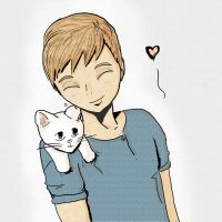 FMA Alphonse + Kitten ColorVer by lemonsdarling