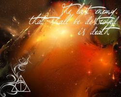 Deathly Hallows Wallpaper by malublack