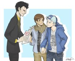 ROTG college AU by Himeco