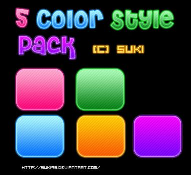 5 Colour Style PACK by Suki95