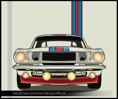 Martini Mustang LineArt by MarisDesign