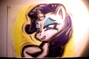 Rarity Pastel Painting by FrenchyToastyy