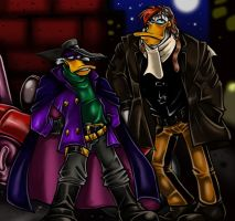 Just Darkwing and Sidekick. by DarkPenguin