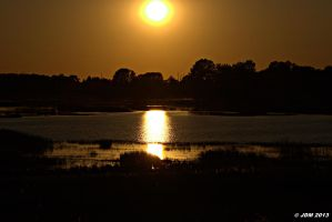 Sunset at Woodland Beach, Delaware by JDM4CHRIST