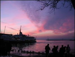 Violet  Sunset in Istanbul... by ancelique