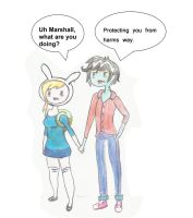 Fionna and  Marshall Lee by bbobrocks