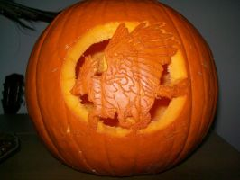 """Peregrin Pumpkin"" Unlit by HuntressLight"