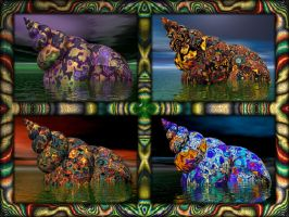Fractal Seashell Collection by unicorngraphics