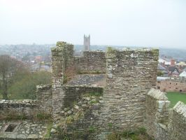 On Top of Ludlow Castle by AetheriumDreams