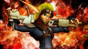 Jak Gun Pose PSP Wallpaper by ShadowDivision