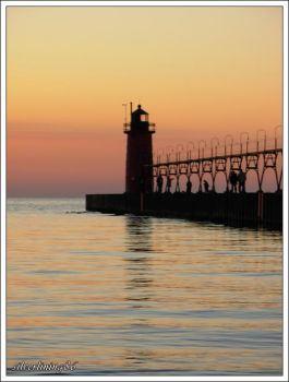 South Haven at Sunset by silverlining86