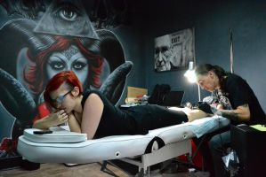 Tattoo In Session 2 by FireFlyExposed