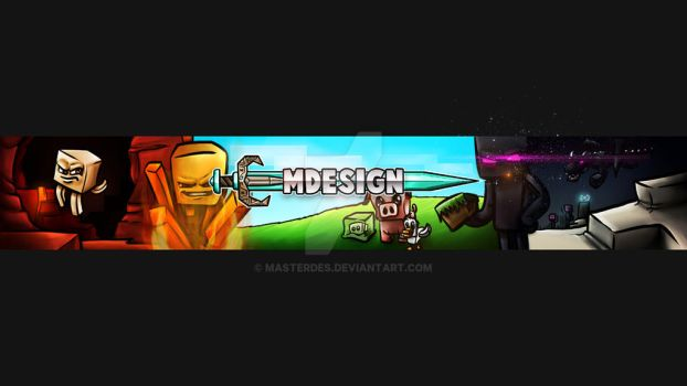 Minecraft YouTube Banner by MasterDes