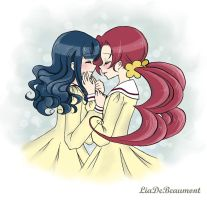 Erika and Tsubomi by LiaDeBeaumont