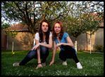 Karo and Andi in the garden by Sisters-by-Heart