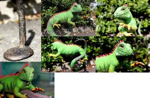 Desk Companion Iguana by koora-the-tigeress