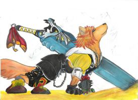 Tidus-wolf by Gingerdragon